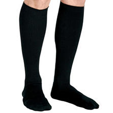 Curad Compression Dress Socks, 8-15 mmHg, Black, Small