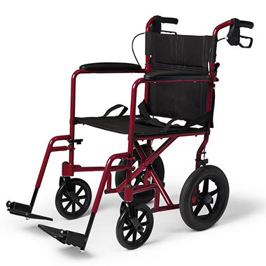 Deluxe Lightweight Aluminum Performance Transport Wheelchair