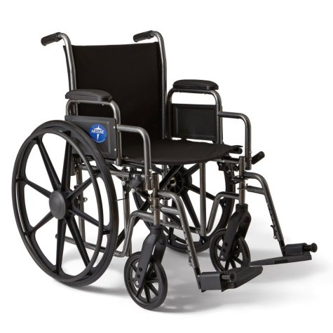 "Height Adjustable Lightweight Wheelchair - 27""W Rim to Rim"