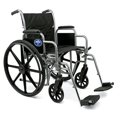 Height Adjustable Lightweight Wheelchair - 25.5