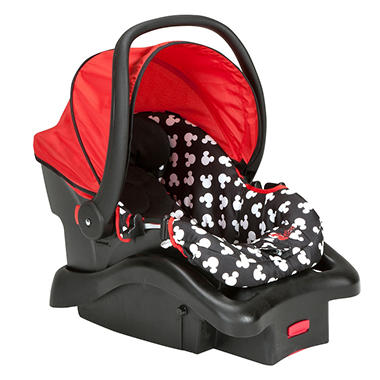 Disney Baby Mickey Mouse Light 'n Comfy Luxe Infant Car Seat, Mickey Silhouette