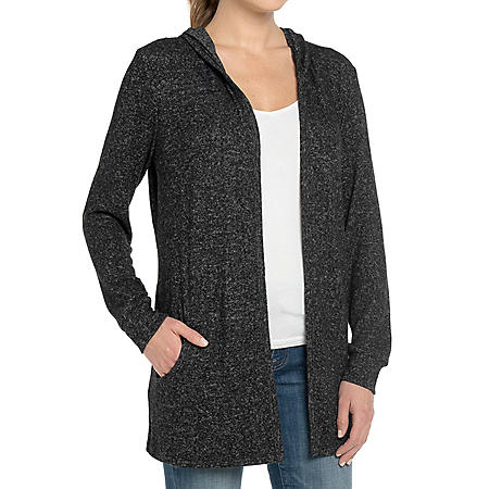 Premise Ladies Hooded Open Front Cardigan