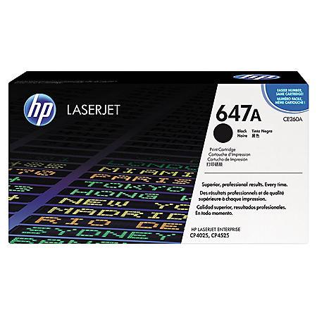 HP 647A Original Laser Jet Toner Cartridge, Select Color/Type