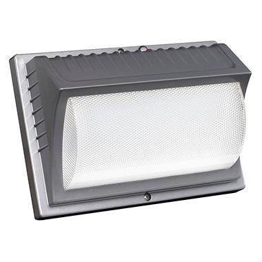 Honeywell led rectangular security light titanium gray