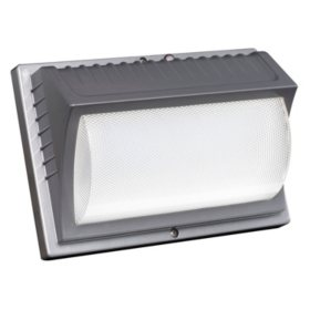 Outdoor lighting sams club honeywell led rectangular security light titanium gray aloadofball Images