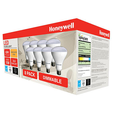 Honeywell 11 Watt BR30 Dimmable LED Bulb Set (8-pack)