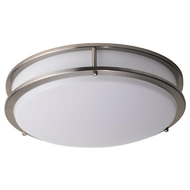 Honeywell 15 led decorative ceiling light brushed nickel honeywell 15 led decorative ceiling light brushed nickel aloadofball Images