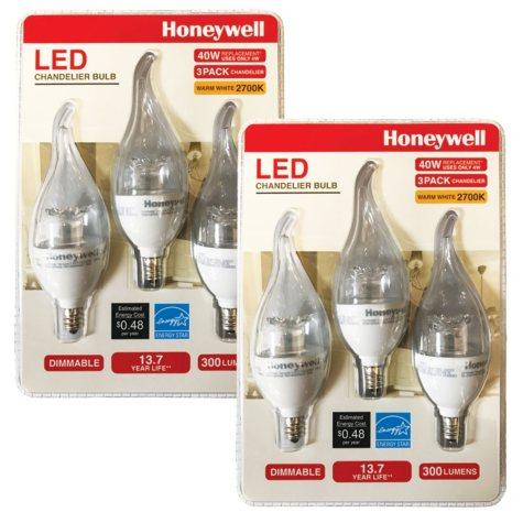 Honeywell 40W Candelabra LED Bulb Set (6 Pack)