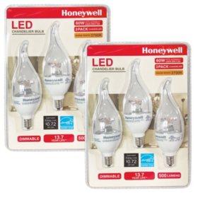 Honeywell 60W Candelabra LED Bulb Set (6 Pack)