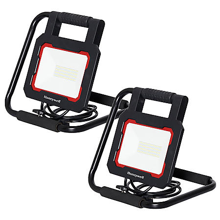 Honeywell LED 3000 Lumen Collapsible Work Light with Rotating Light Head - (2 Pack)