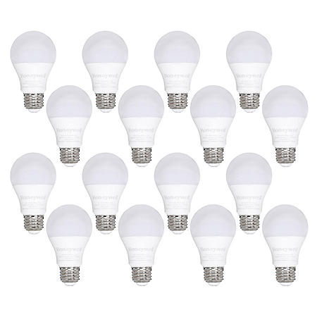 Honeywell 800 Lumen A19 LED Light Bulb, 8.5W (60W Equivalent), Warm White (16 Pk.)