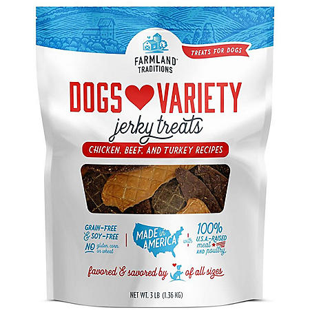 Farmland Traditions Dogs Variety Jerky Treats (3 lb.)