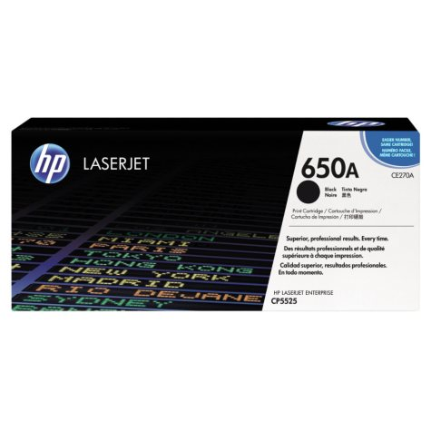 HP 650A Original Laser Jet Toner Cartridge, Select Color