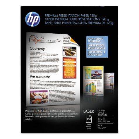 HP Color Laser Presentation Paper, 32lb, 95 Bright, 8 1/2 x 11, White, 250 Sheets