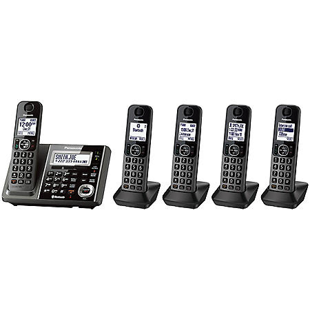 Panasonic 5 Handset Link2Cell Cordless Phone