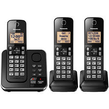Panasonic DECT 6.0 3 Handset Cordless Phone with Answering System