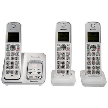 panasonic link2cell bluetooth cordless phone with voice. Black Bedroom Furniture Sets. Home Design Ideas