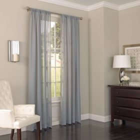 Eclipse Chelsea UV Light Filtering Window Sheer Curtain Assorted Sizes