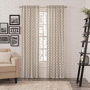 Pairs To Go Zaya Window Curtains, 2-pack