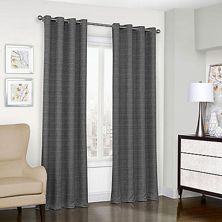 Eclipse Trevi Blackout Grommet Window Curtain (Assorted Sizes)
