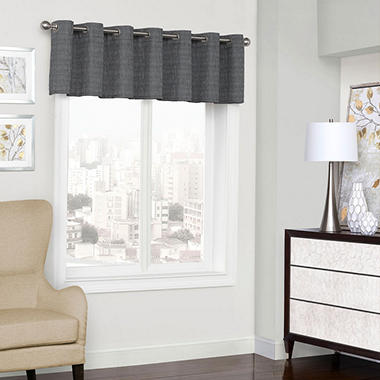 Eclipse Trevi Blackout Grommet Window Valance