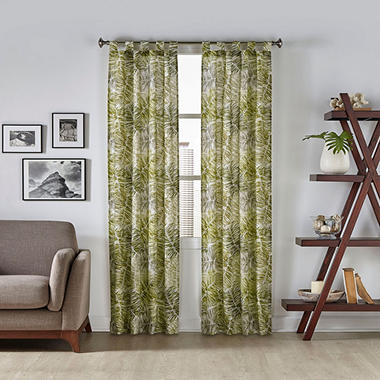 Pairs to Go Marley Tropical Window Curtains, 2-pack