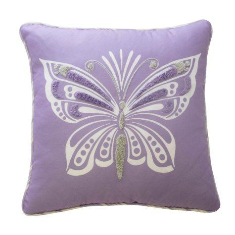 "Waverly Kids Ipanema Butterfly Decorative Accessory Pillow, 15"" x 15"""