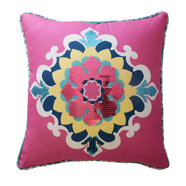 Waverly Kids Bollywood Sequin Decorative Accessory Pillow, 15
