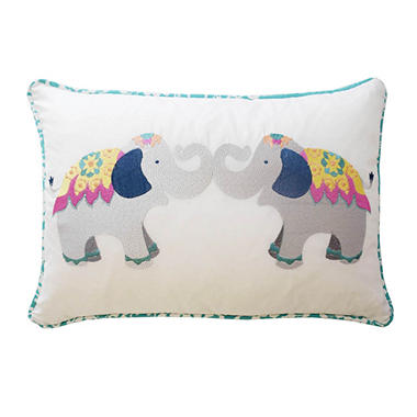 Waverly Kids Bollywood Elephant Decorative Accessory Pillow, 12