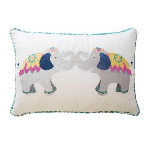"Waverly Kids Bollywood Elephant Decorative Accessory Pillow, 12"" x 18"""