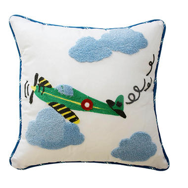 Waverly Kids In the Clouds Airplane Decorative Accessory Pillow, 15