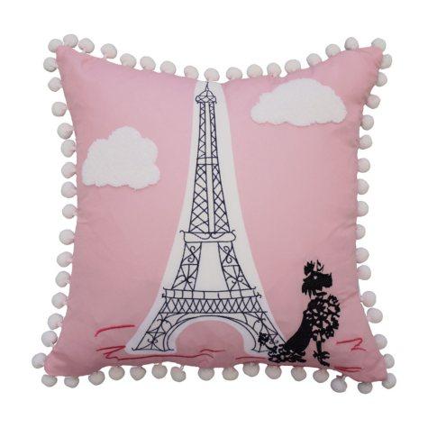 "Waverly Kids Ooh La La Embroidered Decorative Accessory Pillow, 15"" x 15"""