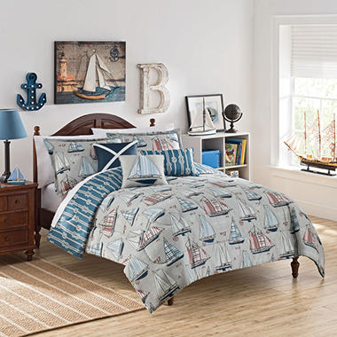 Waverly Kids Set Sail Reversible Bedding Collection
