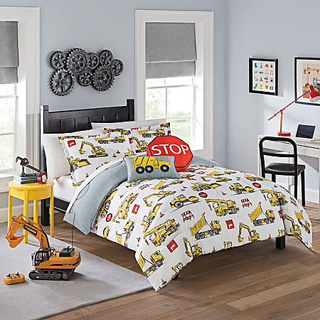Waverly Kids Under Construction Reversible Bedding Set