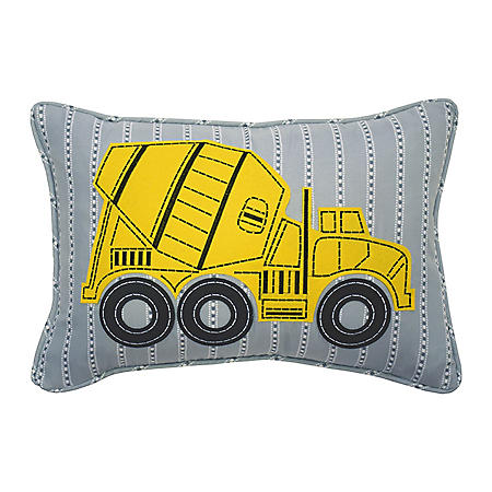 "Waverly Kids Under Construction Oblong Embroidered Accessory Pillow, 12"" x 18"""