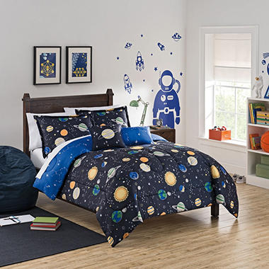 Waverly Kids Space Adventure Reversible Bedding Set