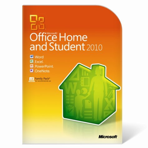 Microsoft Office Home & Student 2010 3-PC