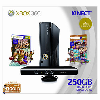 Xbox 360 250GB Kinect Holiday Console Bundle