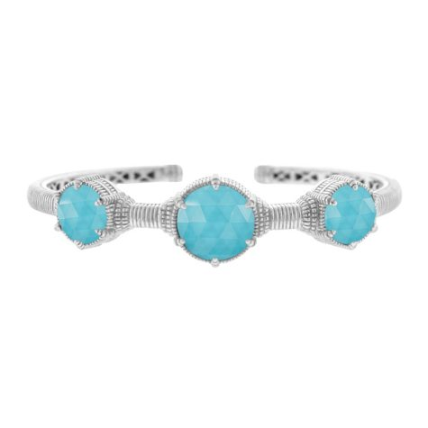 Judith Ripka Eclipse 3-Stone Turquoise Cuff