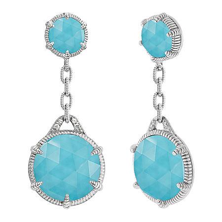 db7fa5ead Judith Ripka Eclipse Double Drop Turquoise Earrings - Sam's Club