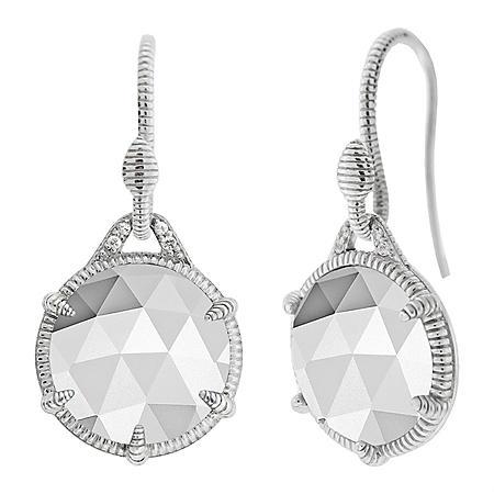 Judith Ripka Eclipse Mother-of-Pearl Doublet Single Drop Earrings