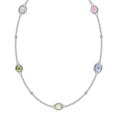 Judith Ripka Multi Stone Necklace - 17
