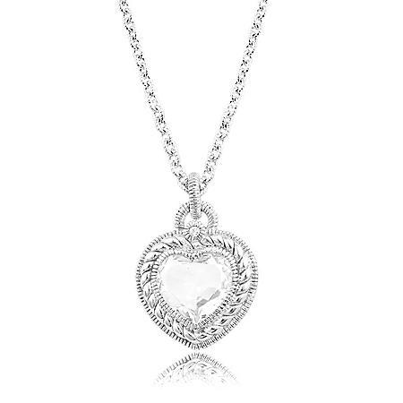 Judith Ripka Stone Heart Pendant