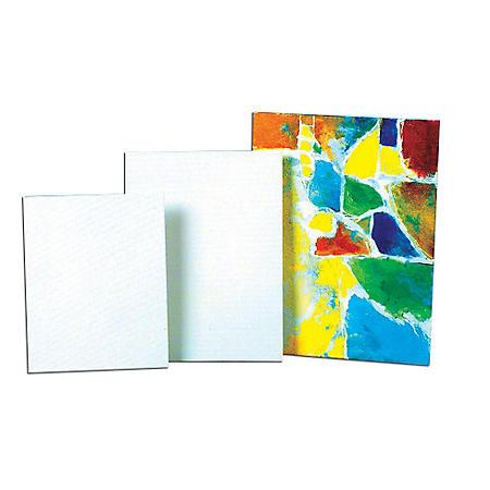 Sax Genuine Canvas Panel, 12 X 12 Inches, 35-Ply, White