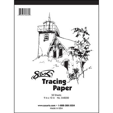 Sax Tracing Paper Pad 9 X 12 Inches 50 Sheets