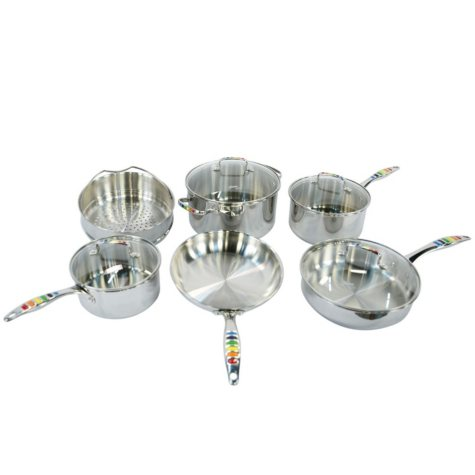 Fiesta Masquerade Stainless Steel 10-Piece Cookware Set