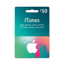 iTunes Gift Card- Various Amounts