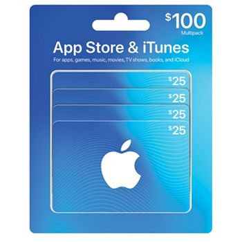 4-Pack $25 iTunes Gift Card