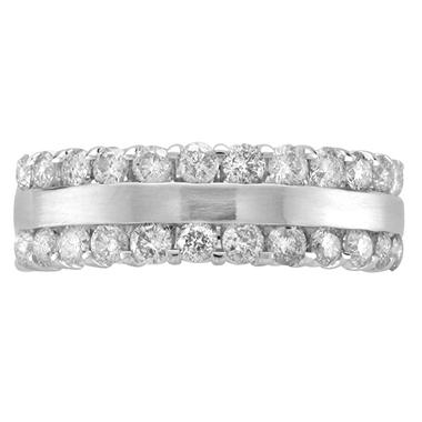 1.0 ct. t.w. Diamond Channel Band in 14K White Gold (H-I, I1)