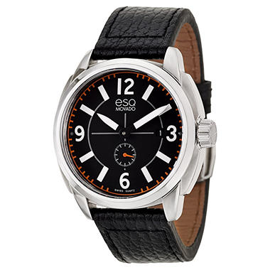 ESQ by Movado Excel Watch for Men With Leather Band